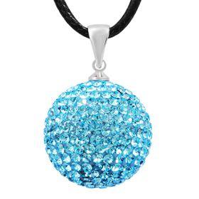 Shiroko Harmony Pendant W. Crystals - Light Blue