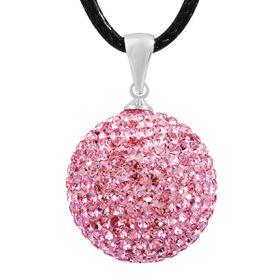 Shiroko Harmony Pendant W. Crystals - Pink