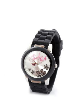 Bad Girl Blossom Analogue Watch in Black
