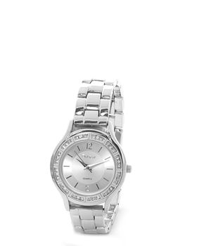 Bad Girl Elegant Analogue Watch in Silver