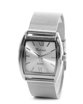 Bad Girl Mesh Analogue Watch in Silver