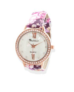 Bad Girl Bouquet Analogue Watch in Rosegold