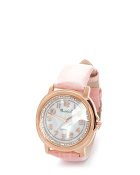 Bad Girl Paradise Analogue Watch in Rosegold & Coral