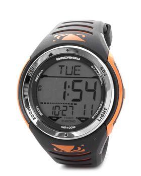Bad Boy 100M-WR Digital Watch in Black & Orange