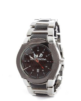 Bad Boy Legend Analogue Watch in Silver & Carbon Fibre