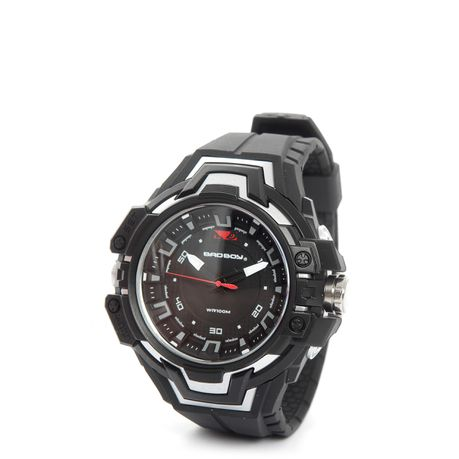 c26e7859ee Bad Boy Pulse 100M-WR Watch in Black & Silver | Buy Online in South ...