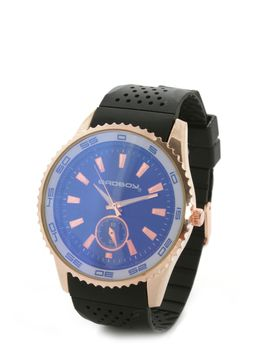 Bad Boy Dominate Analogue Watch in Black & Rosegold