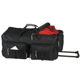 Eco Dual Front Pocket Rolling Travel Duffel