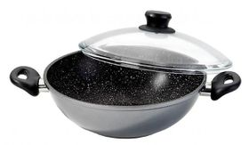Stoneline - Wok With High-Dome Glass Lid
