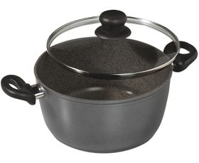 Stoneline - Cooking Pot 2 x Extra-Large With Glass Lid - 28cm