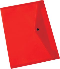 Bantex A4 PP Document Envelope - Red