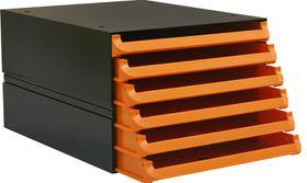 Bantex Texo Modular 6 Drawer Storage System - Orange