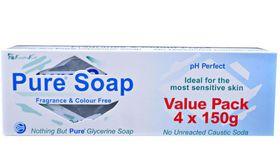 Pure Glycerine Soap - 4 x 150g