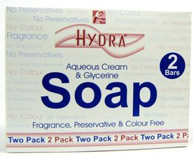 Hydra Aqueous Cream & Glycerine Soap - 2 x 100g