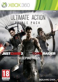 Ultimate Action Triple Pack (Just Cause 2, Sleeping Dogs & Tomb Raider) (Xbox 360)