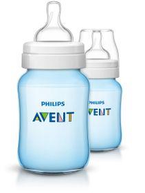 Avent - Blue Classic Plus - Feeding Bottles - 260ml - Twin