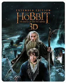The Hobbit: The Battle Of The Five Armies - Extended Edition Steelbook (Blu-ray)