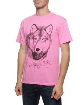 Wolf T-Shirt - Hot Pink
