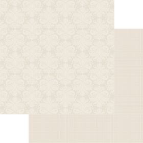 Lady Pattern Paper Basic Essentials Damask - So Buff (10 Sheets)