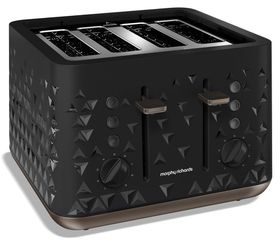 Morphy Richards - 4 Slice Prism Toaster - Black