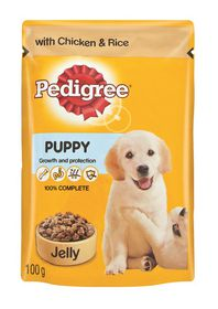 Pedigree - Puppy Pouch Chicken With Rice In Jelly - 0.1kg