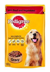 Pedigree - Adult Pouch Beef & Veg In Gravy - 0.1kg