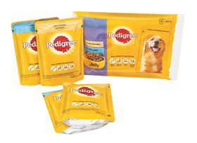 Pedigree - Adult Pouch x 4 Multipack - Chicken & Lamb In Jelly - 0.1kg