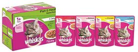 Whiskas - Adult Pouch Multipack Fish & Meat Selection In Jelly - 0.085kg