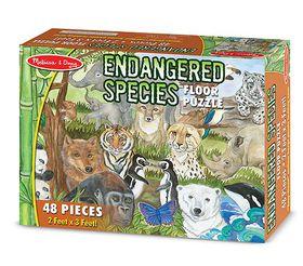 Melissa & Doug Endangered Species Floor Puzzle - 48 pieces