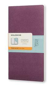Moleskine Chapters Journal Slim Large Ruled Plum Purple