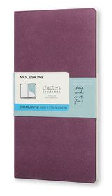 Moleskine Chapters Journal Slim Pocket Dotted Purple