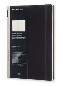 Moleskine Pro Collection Workbook A4 Black Squared Hardcover