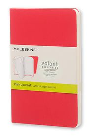 Moleskine Volant Journal Plain Pocket Scarlet Red