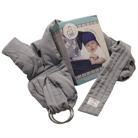 4c68209c3ab BabyWombWorld Ring Sling - Light Grey