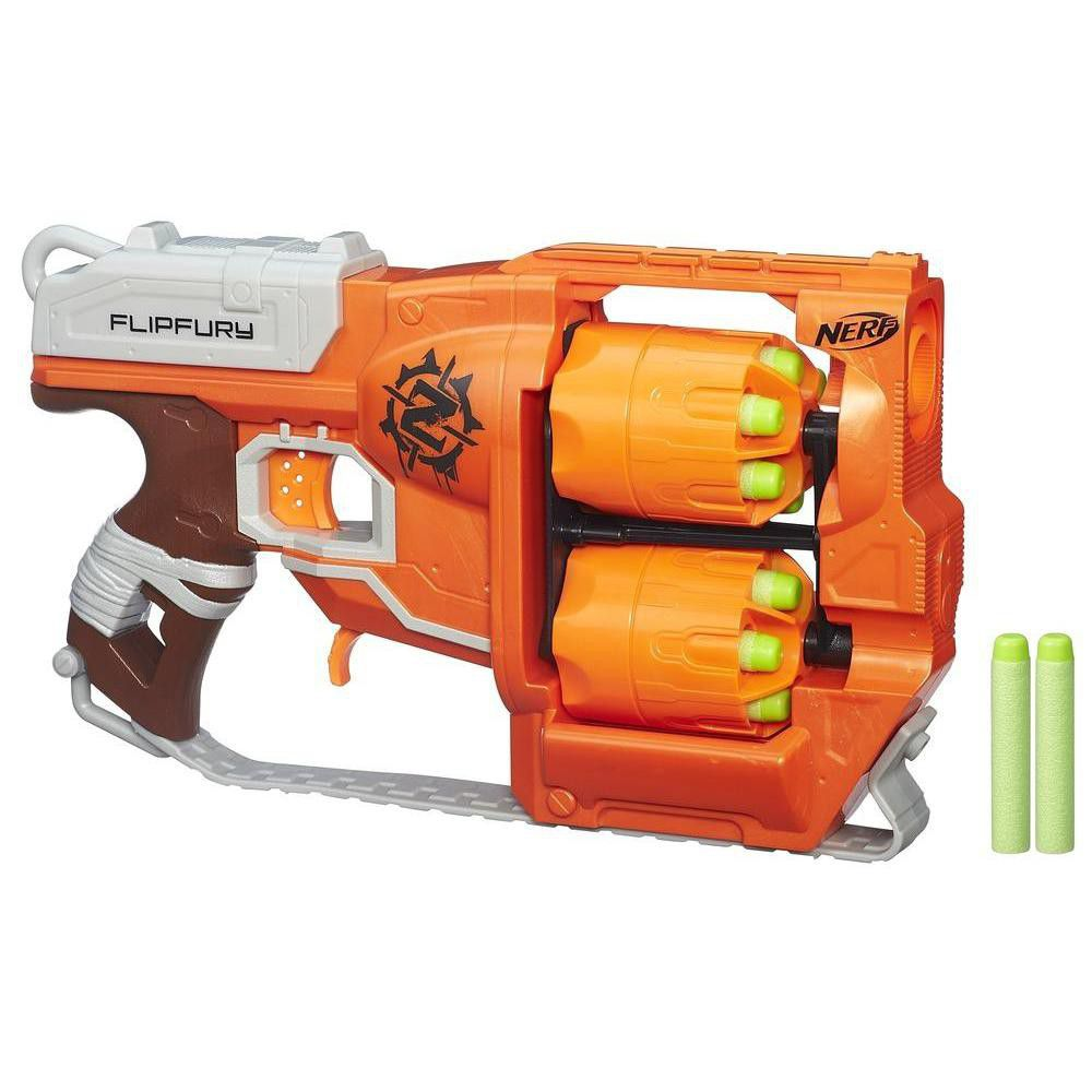 Buy Nerf Zombie Strike Doominator Blaster Gun Rifle Toy Kids 24 Darts Game  Shooting at online store