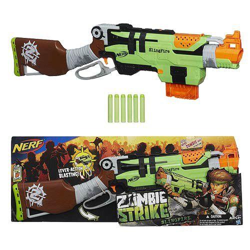 lançador de dardos nerf zombie strike slingfire hasbro. Carregando zoom.