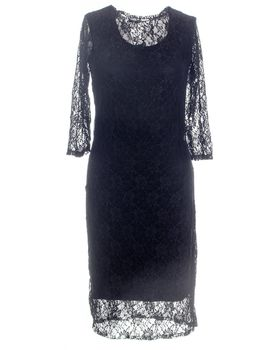 Kiss Clothing Ladies Lace Dress - Black