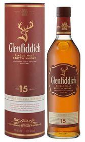 Glenfiddich - 15 Year Old Solera Reserve Single Malt Whisky - Case 12 x 750ml