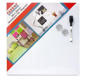Parrot Whiteboard Tile Magnetic 360 x 360mm - White