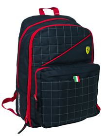 Ferrari Black Label Collection Expandable Backpack