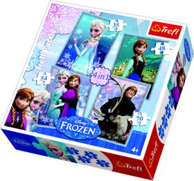 Trefl - 4 In 1 Puzzle 35+48+54+70 Pc Frozen