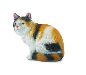Collecta Cats&Dogs-3-Colour House Cat - Sitting-S