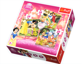 Trefl - 3In1 Puzzle 20+36+50Pc Snow White