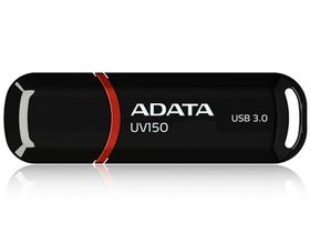 Adata UV150 32GB Lanyard Dash Drive - Black/Red