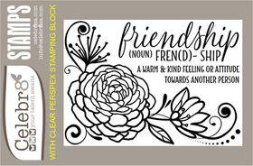 Celebr8 Stamp - Floral Friendship