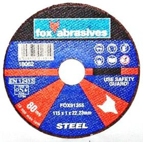 Fox Tools - Abrasive Cutting Disc Steel Professional - 115 x 1.0mm