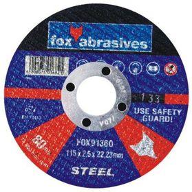 Fox Tools - Abrasive Cutting Disc Steel - 115 x 2.5mm