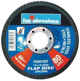 Fox Tools - Abrasive Disc Flap Std 115mm - 80g