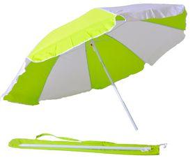 St Umbrella - Beach Umbrella - Lime andWhite