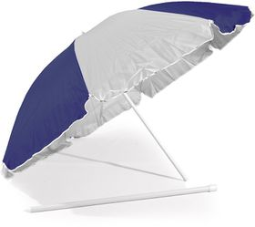 St Umbrella - Beach Umbrella - Navy Blue and White